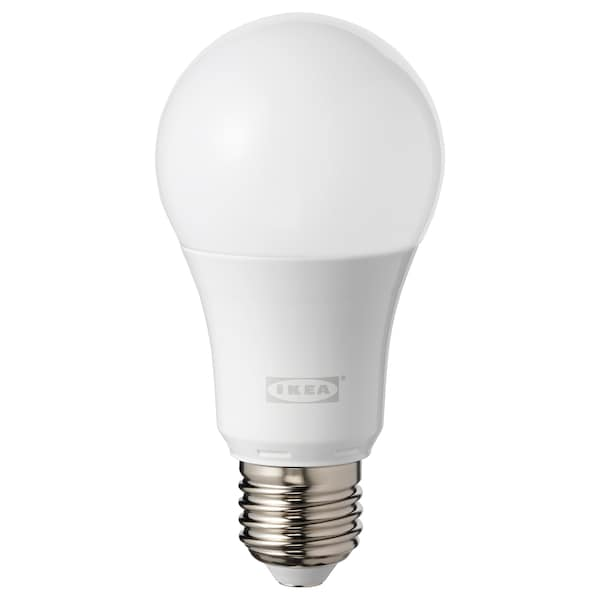 TRÅDFRI LED bulb E27 600 lumen, wireless dimmable colour and white spectrum/globe opal white