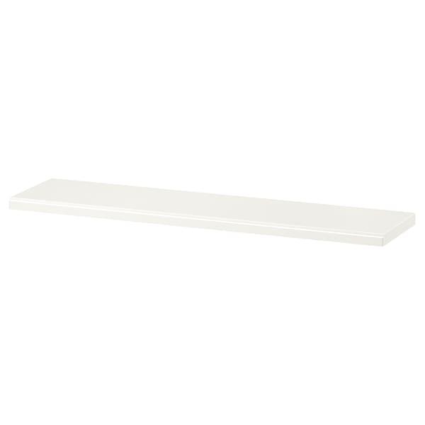 TRANHULT shelf white stained aspen 80 cm 20 cm 2.4 cm 10 kg