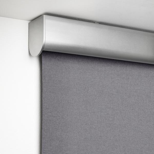 TRETUR Block-out roller blind, light grey, 140x195 cm