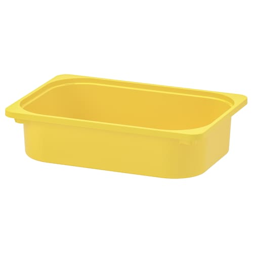 TROFAST storage box yellow 42 cm 30 cm 10 cm