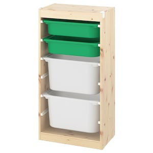 Colour: Light white stained pine green/white.