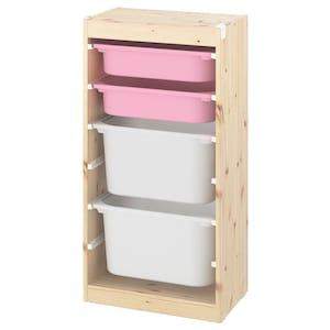 Colour: Light white stained pine pink/white.