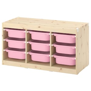 Colour: Light white stained pine/pink.