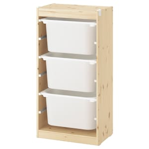 Colour: Light white stained pine/white.