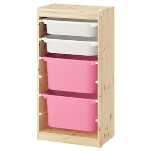 Colour: Light white stained pine white/pink.