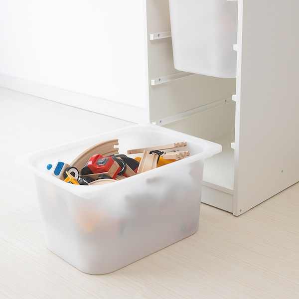 TROFAST storage combination with boxes white/white 34 cm 44 cm 94 cm