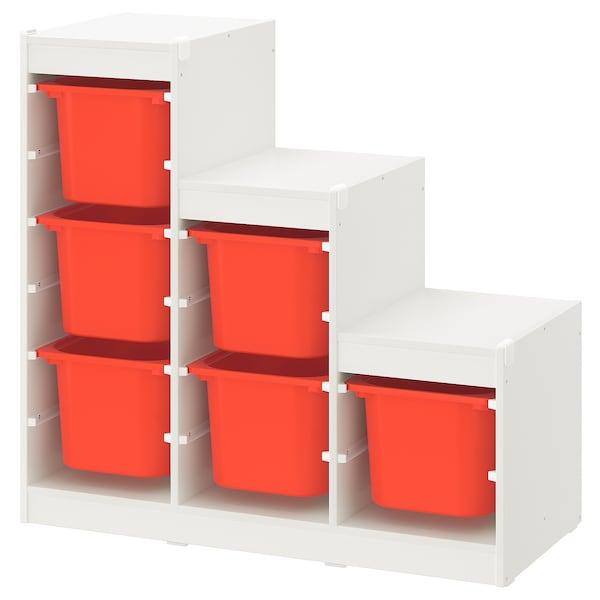 TROFAST storage combination white/orange 99 cm 44 cm 95 cm