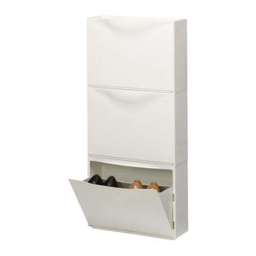 TRONES Shoe cabinet/storage IKEA The cabinet takes up little space as it is shallow, and is ideal for storing shoes, gloves and scarves.