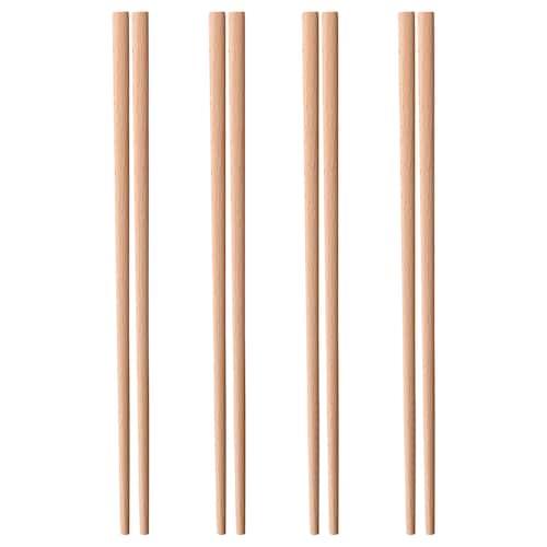 TRYNFISK chopsticks 4 pairs light beech 24 cm