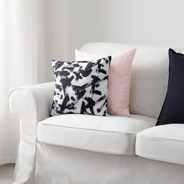 TURILL cushion white/black 40 cm 40 cm 170 g 190 g