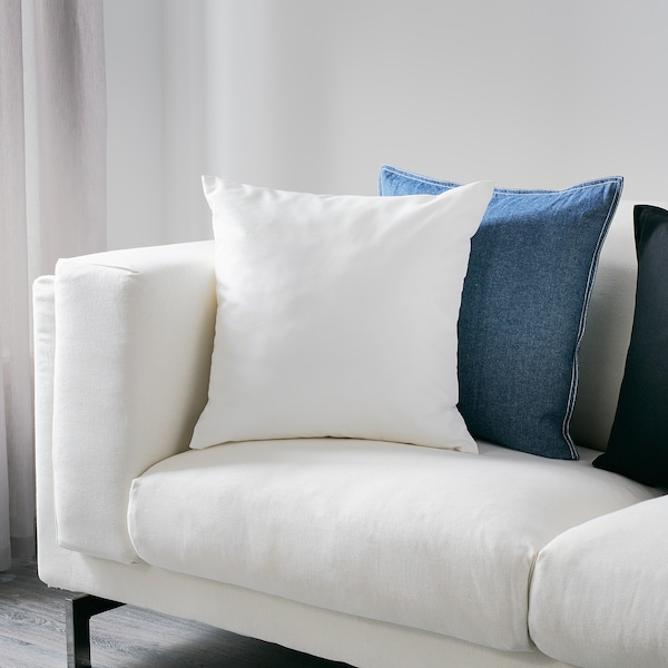 ULLKAKTUS Cushion, white, 50x50 cm