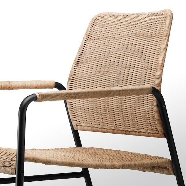 ULRIKSBERG armchair rattan/anthracite 76 cm 67 cm 74 cm 76 cm 20 cm 6.2 cm 54 cm 60 cm 60 cm 37 cm 110 kg