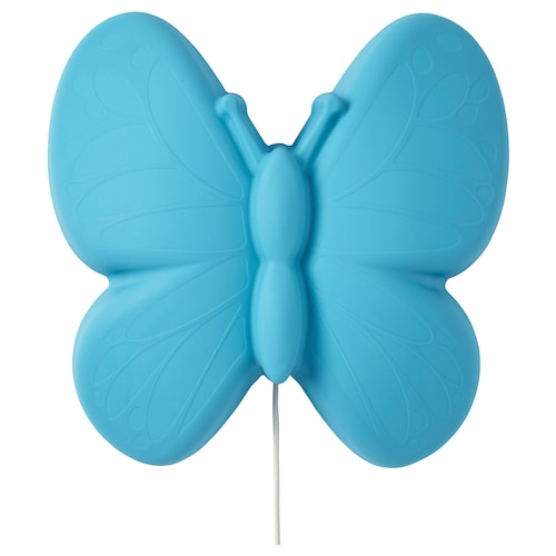 UPPLYST LED wall lamp butterfly light blue 110 lm 28 cm 9 cm 27 cm 2.0 m 1.6 W