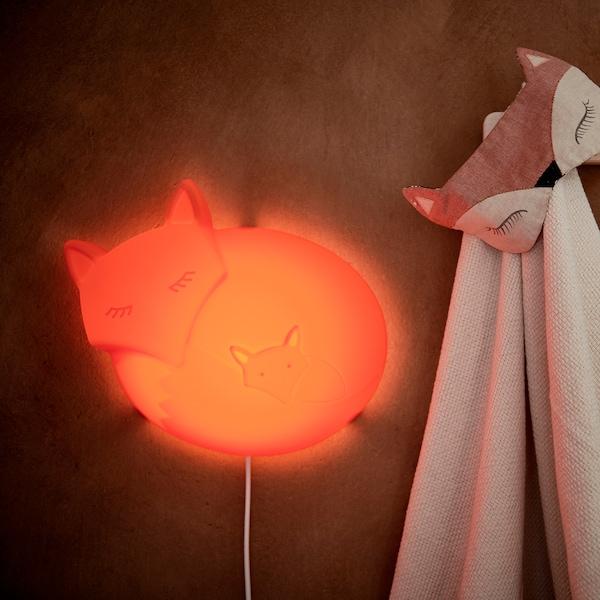UPPLYST LED wall lamp fox orange 110 lm 30 cm 9 cm 25 cm 2.0 m 1.6 W