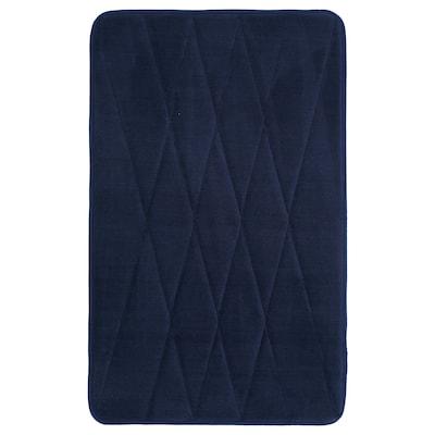 UPPVAN Bath mat, dark blue, 40x60 cm