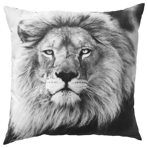 URSKOG cushion lion/grey 50 cm 50 cm 350 g 475 g