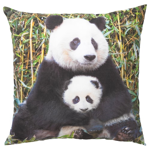URSKOG cushion Panda multicolour 50 cm 50 cm 350 g 475 g