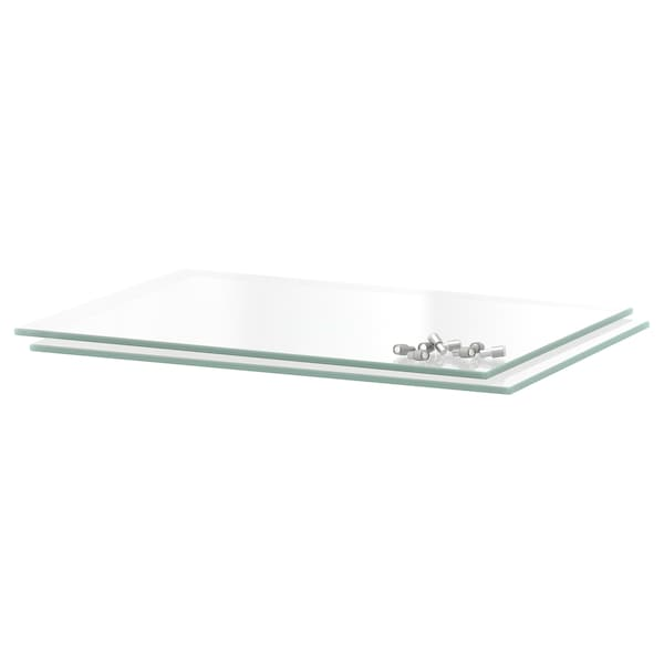 UTRUSTA shelf glass 26.3 cm 30 cm 34.6 cm 37 cm 5 mm 8 kg 2 pack 0.09 m²