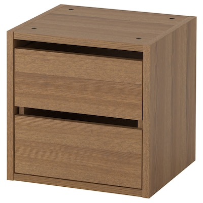 VADHOLMA Drawer unit, brown/stained ash, 40x37x40 cm