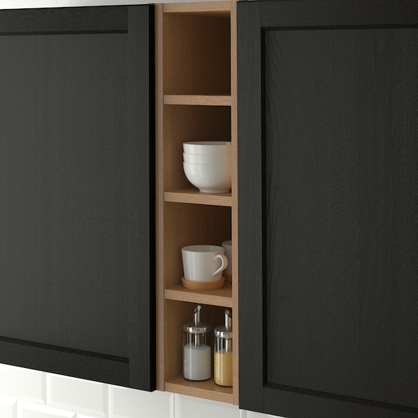 VADHOLMA open storage brown/stained ash 20 cm 37 cm 80 cm