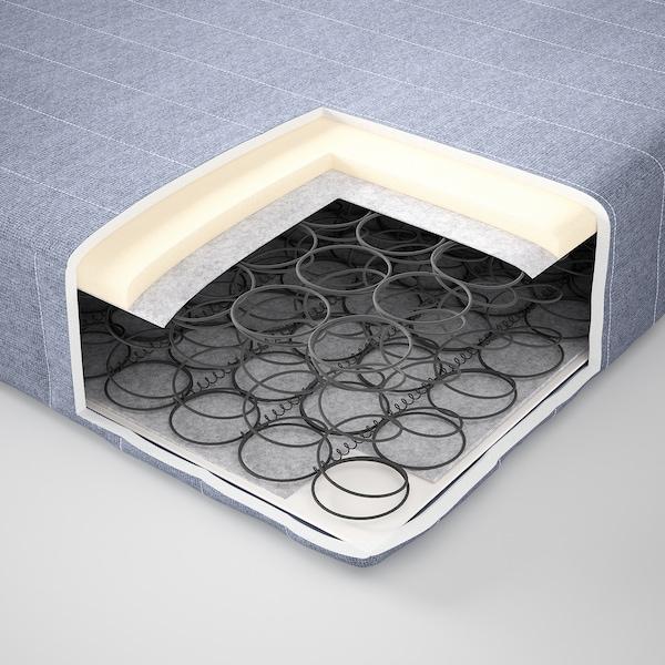 VADSÖ Sprung mattress, extra firm/light blue, 90x200 cm
