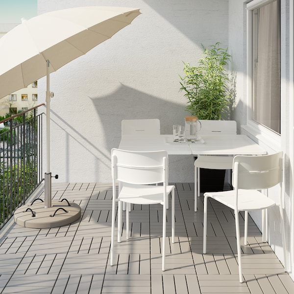 VÄDDÖ Table+4 chairs, outdoor, white