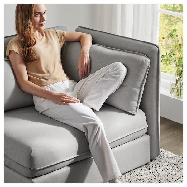VALLENTUNA Modular corner sofa 3-seat+sofa-bed, and storage/Orrsta light grey
