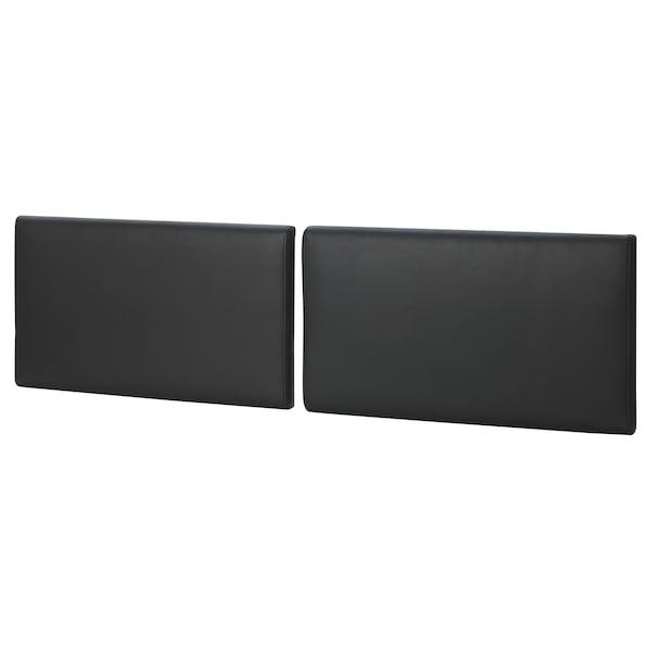 VANNVÅG Headboard cushion, Kimstad black, 67 cm