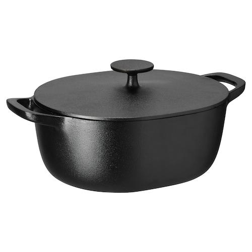 VARDAGEN casserole with lid cast iron 36 cm 24 cm 12 cm 5 l