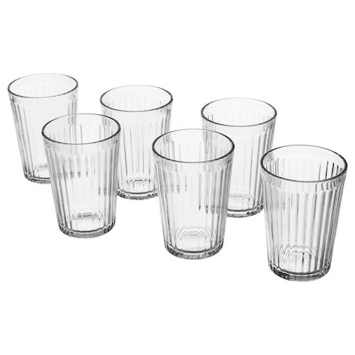 VARDAGEN glass clear glass 10 cm 20 cl 6 pack