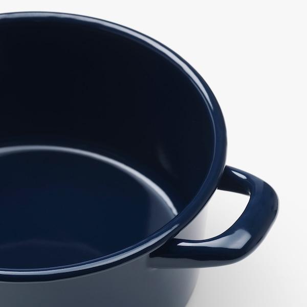 VARDAGEN Pot with lid, enamelled steel, 3 l