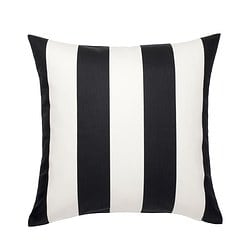 VÅRGYLLEN cushion cover, white, black
