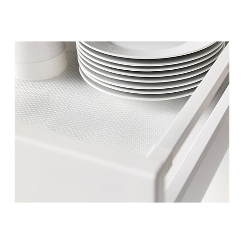 VARIERA Drawer mat IKEA Dampens sounds and protects drawers and shelves against scratching. Easy to cut to desired size.