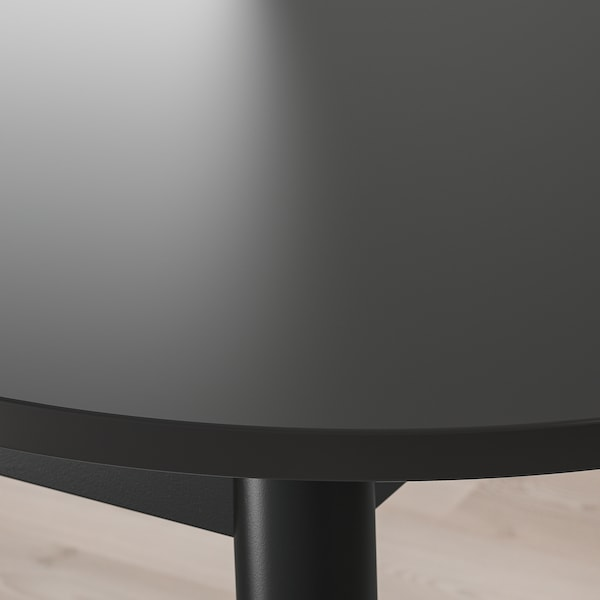 VEDBO Table and 4 chairs, black/black, 160x95 cm