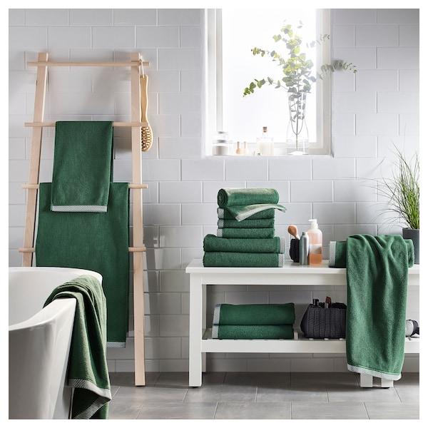 VIKFJÄRD bath towel green 140 cm 70 cm 0.98 m² 475 g/m²