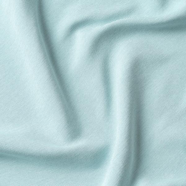 VILBORG Room darkening curtains, 1 pair, white/turquoise, 145x250 cm