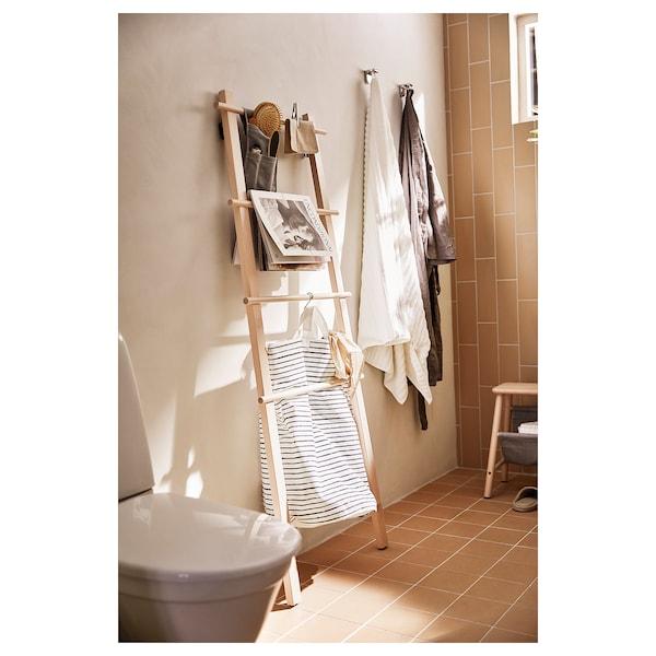 VILTO towel stand birch 57 cm 150 cm