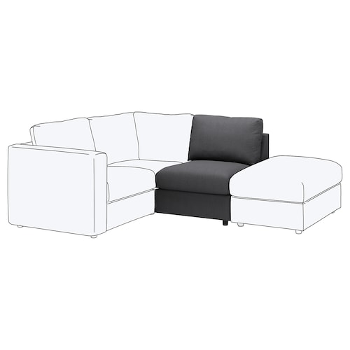VIMLE 1-seat section Finnsta dark grey 80 cm 66 cm 71 cm 98 cm 4 cm 71 cm 55 cm 45 cm