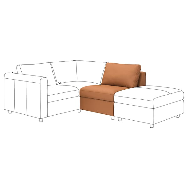 VIMLE 1-seat section Grann/Bomstad golden-brown 68 cm 71 cm 98 cm 83 cm 6 cm 71 cm 55 cm 48 cm 1 pack