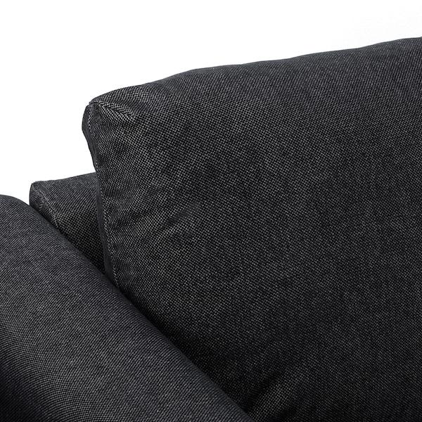 VIMLE 3-seat sofa-bed Tallmyra black/grey 53 cm 83 cm 68 cm 261 cm 98 cm 241 cm 55 cm 48 cm 140 cm 200 cm 12 cm