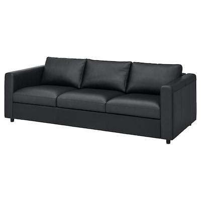 VIMLE 3-seat sofa, Grann/Bomstad black