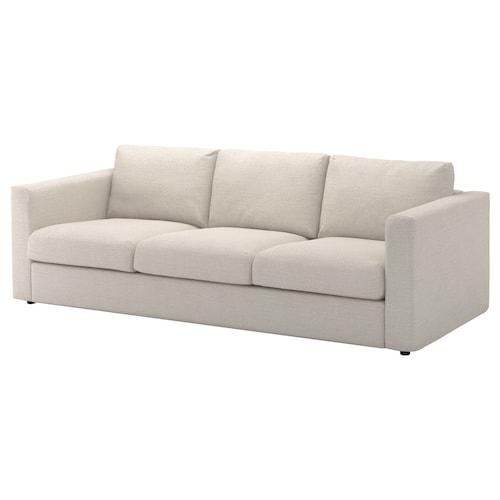 VIMLE 3-seat sofa Gunnared beige 83 cm 68 cm 241 cm 98 cm 6 cm 15 cm 68 cm 211 cm 55 cm 48 cm