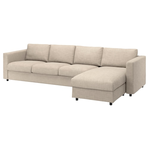 VIMLE 4-seat sofa with chaise longue/Hillared beige 83 cm 68 cm 164 cm 322 cm 98 cm 125 cm 6 cm 15 cm 68 cm 292 cm 55 cm 48 cm