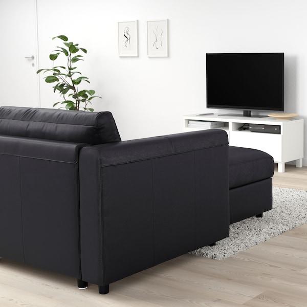 VIMLE Chaise longue, Grann/Bomstad black