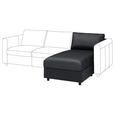 VIMLE Chaise longue section, Grann/Bomstad black
