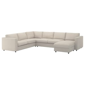 Cover: With chaise longue/gunnared beige.