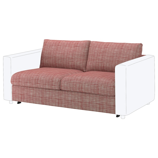 VIMLE Cover for 2-seat sofa-bed section, Dalstorp multicolour