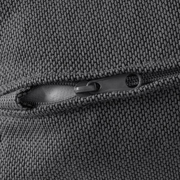 VIMLE Footstool with storage, Finnsta dark grey