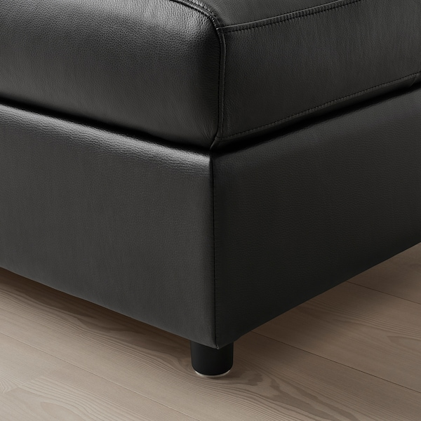 VIMLE Footstool with storage, Grann/Bomstad black