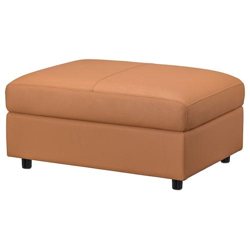 VIMLE footstool with storage Grann/Bomstad golden-brown 98 cm 73 cm 6 cm 48 cm 105 l 1 pack